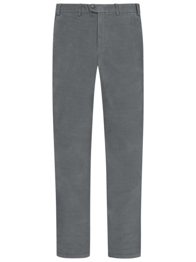 Modische Chino aus Phantom-Cord, Slim Fit in GRAU