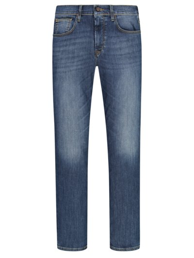 Jeans mit modischer Waschung, Movimento, Slim Fit in BLAU