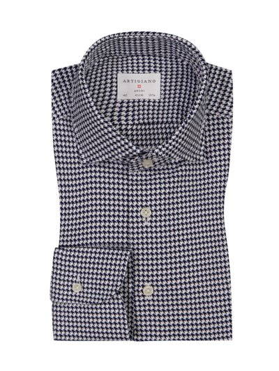 Jersey-Businesshemd, Slim Fit in MARINE