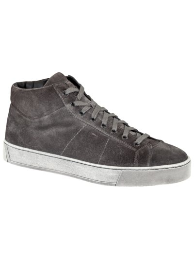 High-Top Sneaker in Veloursleder in ANTHRAZIT