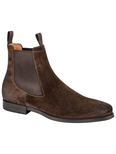 Eleganter Chelsea Boot, Veloursleder in BRAUN