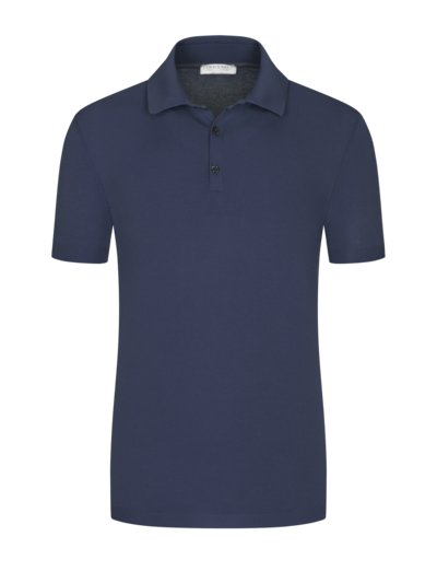 Strick-Poloshirt in Fresh-Cotton Qualität in MARINE