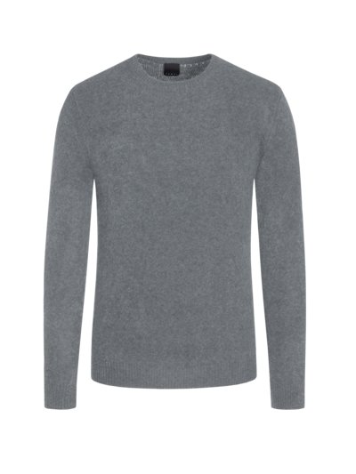 Pullover im Wollmix, in Bouclé-Optik in GRAU