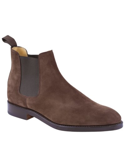 Chelsea-Boot in Veloursleder in BRAUN