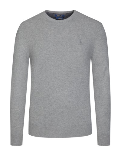 Lambswool-Pullover in GRAU