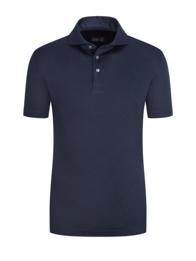 Hochwertiges Jersey-Poloshirt, Slim Fit in MARINE
