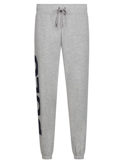 Jogginghose mit Logo-Applikation in GRAU