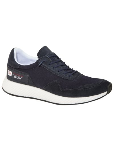 Sneaker mit Techmerino in MARINE