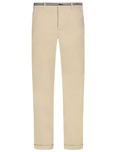Leichte Chino mit Stretchanteil, Regular Slim Fit in BEIGE
