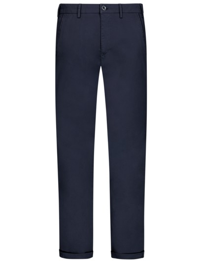 Leichte Chino mit Stretchanteil, Slim Fit in MARINE