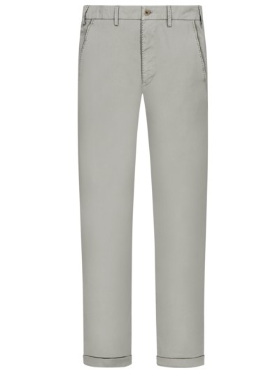 Leichte Chino mit Stretchanteil, Slim Fit in HELLGRAU