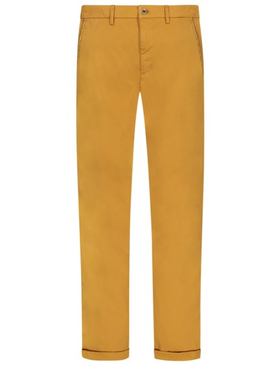 Leichte Chino mit Stretchanteil, Slim Fit in ORANGE