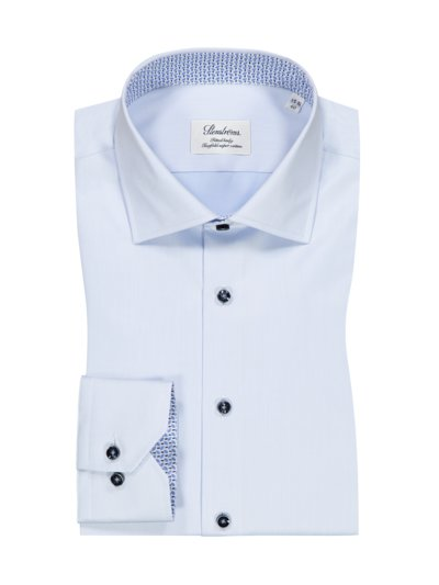 Businesshemd mit Twofold-Super-Cotton, Fitted Body in HELLBLAU