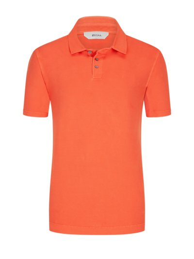 Poloshirt mit Stretchanteil in ORANGE
