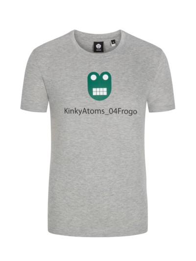 T-Shirt mit 'Kinky-Atoms'-Print in GRAU