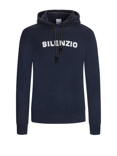Sweatshirt mit Kapuze, Washed-Look in MARINE
