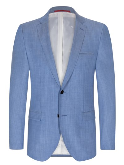 Baukastensakko in Super-100-Schurwolle, Arti193, Extra Slim Fit in HELLBLAU