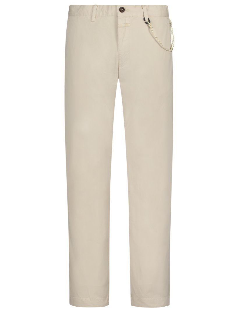 Chinohose, Clifton, Slim Fit in BEIGE