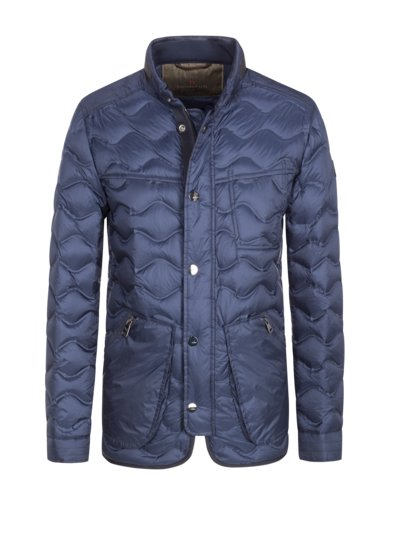 Stepp-Blouson in MARINE