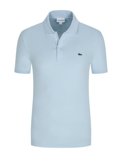 Poloshirt in Jersey-Qualität, Regular Fit in HELLBLAU