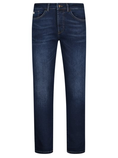 Jeans mit Stretchanteil, U2, Slim Fit in MARINE