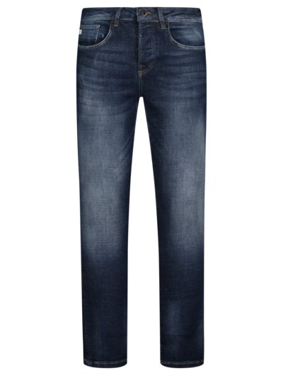 Jeans mit Button-Fly, U2, Slim Fit in BLAU