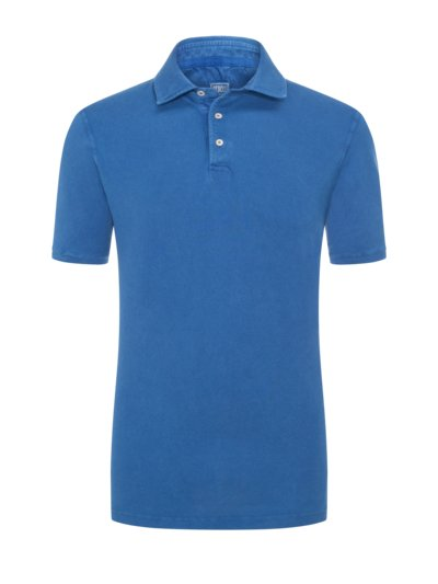 Poloshirt mit Frosted-Waschung in ROYAL