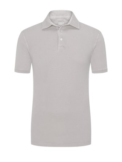Poloshirt mit Frosted-Waschung in BEIGE