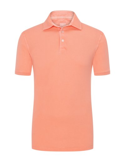 Poloshirt mit Frosted-Waschung in ORANGE