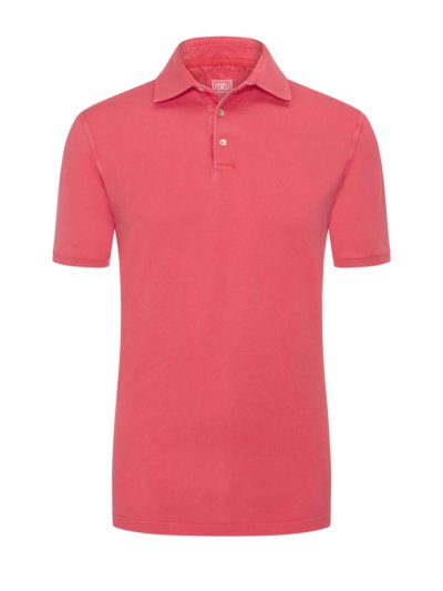 Poloshirt mit Frosted-Waschung in ROT