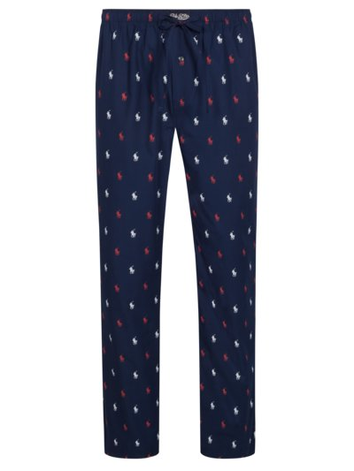Bequeme Schlafpants im All-Over-Print in MARINE