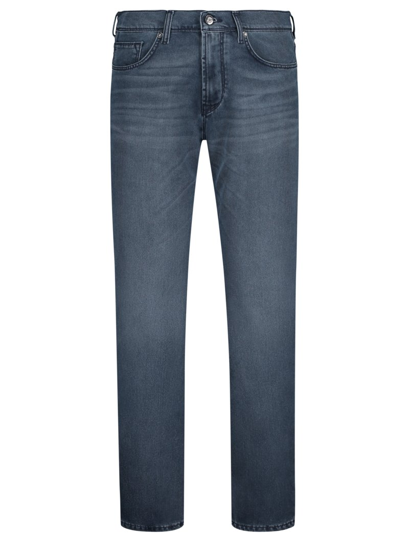 Jeans mit Seiden-Anteil, Slim Fit in BLAU