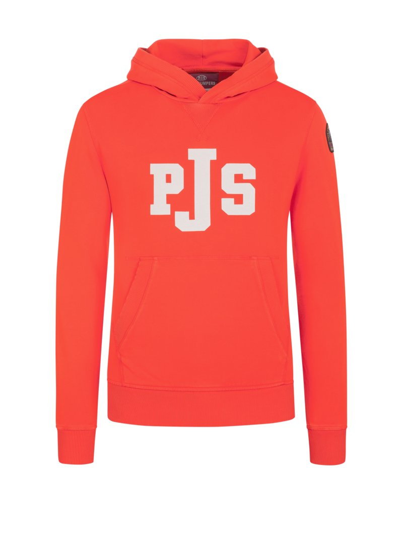 Sweatshirt mit Kapuze in ORANGE