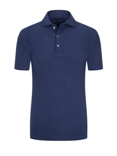 Poloshirt in Washed-Optik in MARINE
