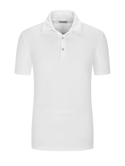 Poloshirt in Frottee-Qualität in WEISS
