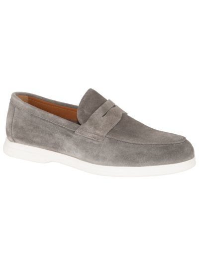 Slipper in Veloursleder in GRAU