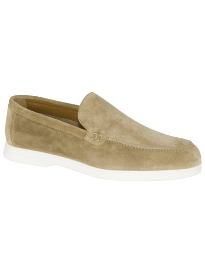 Slipper in Veloursleder in KHAKI