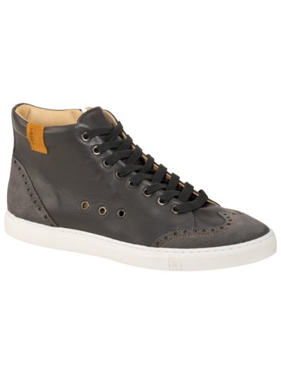 High-Top Sneaker, Half-Brogue in ANTHRAZIT