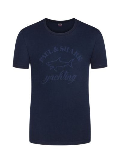 T-Shirt mit Frontprint in MARINE