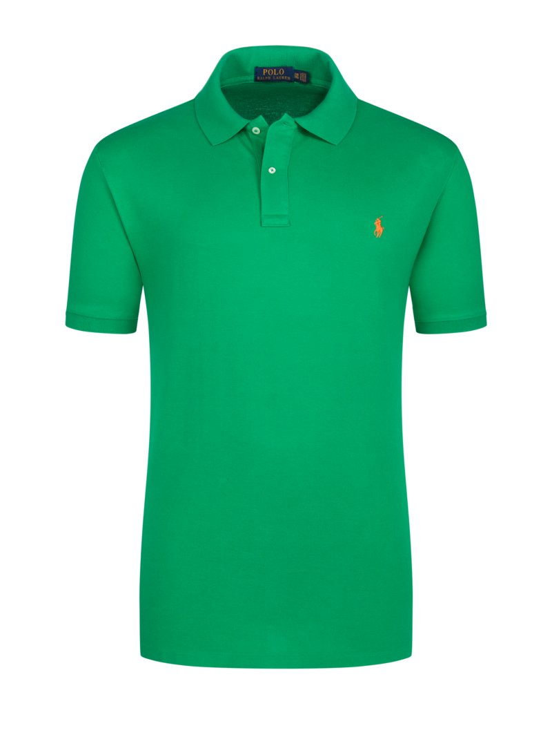 Poloshirt, Slim Fit in GRUEN