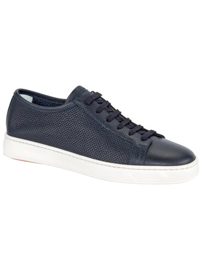 Eleganter Sneaker in perforiertem Leder in MARINE