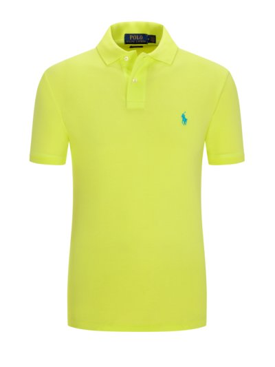Poloshirt im Neon-Design, Slim Fit in GELB