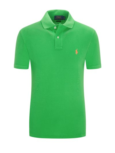 Poloshirt im Neon-Design, Slim Fit in GRUEN