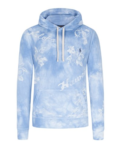 Sweatshirt im Batik-Look in HELLBLAU