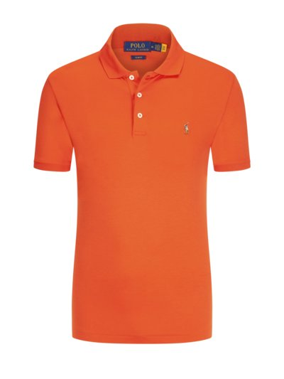 Poloshirt in softer Pima-Cotton-Qualität, Slim Fit in ORANGE