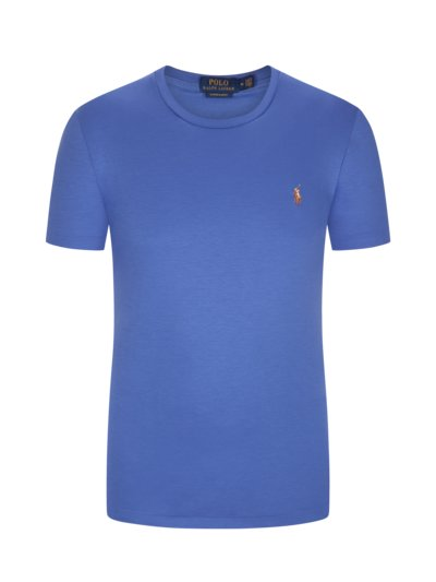 T-Shirt mit Soft-Touch, Custom Slim Fit in ROYAL