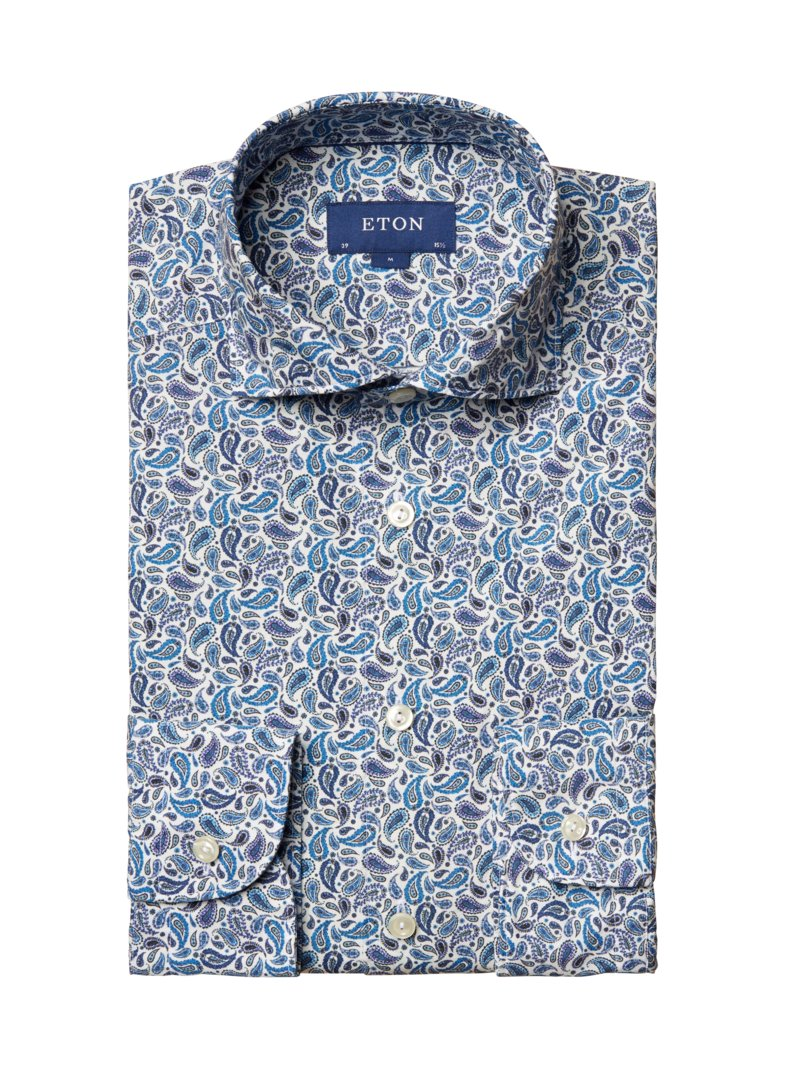 Hemd im Paisley-Muster, Contemporary Fit in ROYAL
