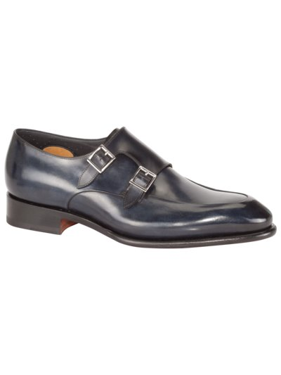 Doppelmonk-Businessschuh, Goodyear-Sohle in MARINE
