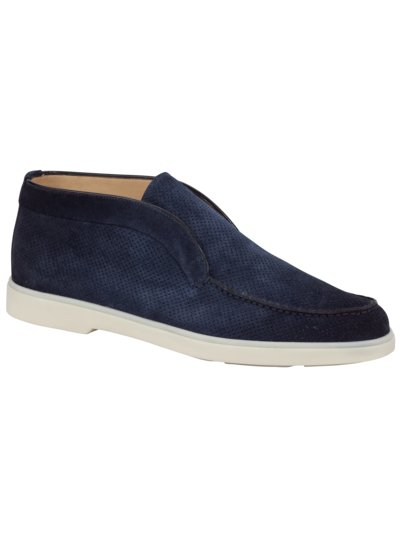 Slipper in Chukka-Form in BLAU