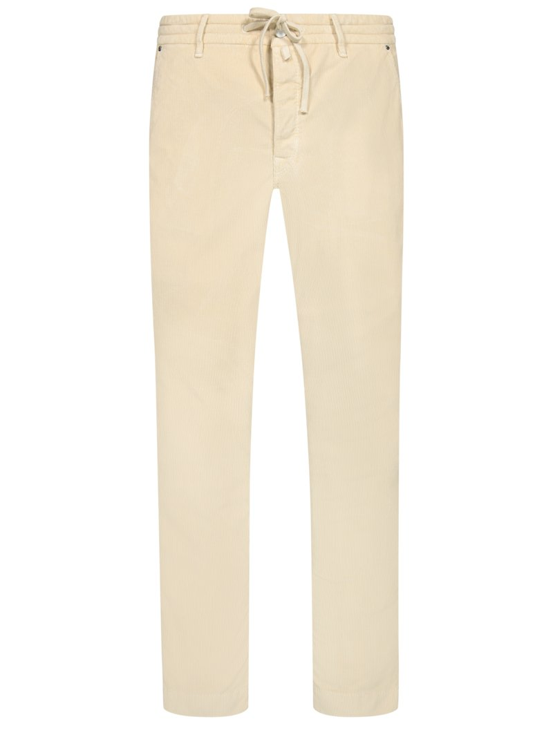 Joggpant aus Cord, J676 in OFFWHITE